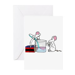 Lab Mice Greeting Cards (Pk of 10)