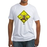 Moose Warning Fitted T-Shirt