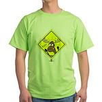 Moose Warning Green T-Shirt