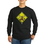Moose Warning Long Sleeve Dark T-Shirt