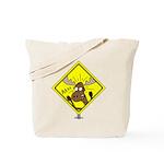 Moose Warning Tote Bag