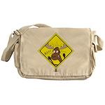 Moose Warning Messenger Bag