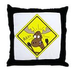 Moose Warning Throw Pillow