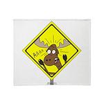 Moose Warning Throw Blanket