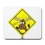 Moose Warning Mousepad