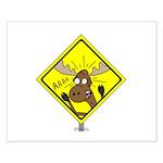 Moose Warning Small Poster