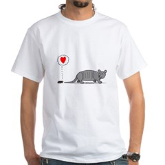 Armadillo Love White T-Shirt