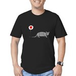 Armadillo Love Men's Fitted T-Shirt (dark)
