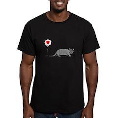 Armadillo Love Men's Fitted T-Shirt (dark)