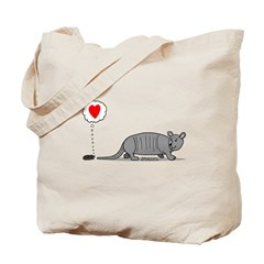 Armadillo Love Tote Bag