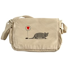 Armadillo Love Messenger Bag