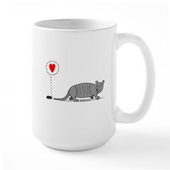 Armadillo Love Large Mug