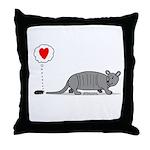 Armadillo Love Throw Pillow