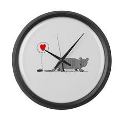 Armadillo Love Large Wall Clock