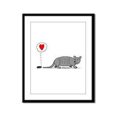 Armadillo Love Framed Panel Print