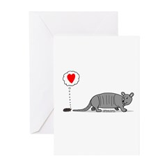 Armadillo Love Greeting Cards (Pk of 20)