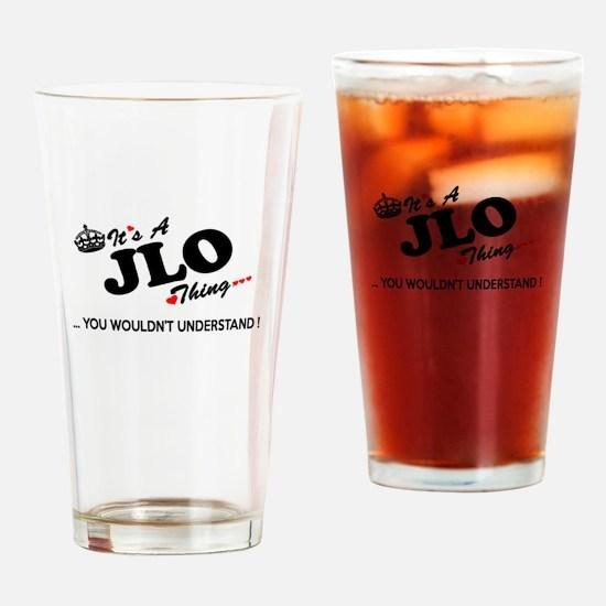 Cute Jlo Drinking Glass