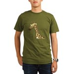 Giraffe Organic Men's T-Shirt (dark)