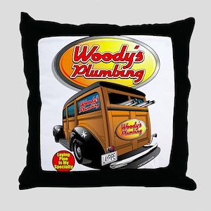 Woody's Plumbing @ eShirtLabs Throw Pillow