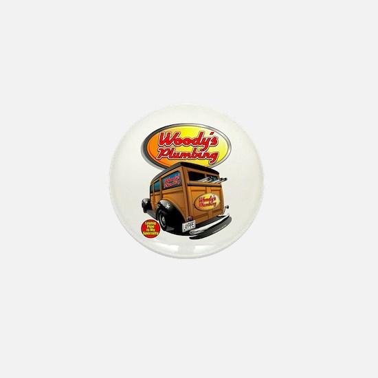 Woody's Plumbing @ eShirtLabs Mini Button
