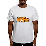 Cat Contemplation Light T-Shirt