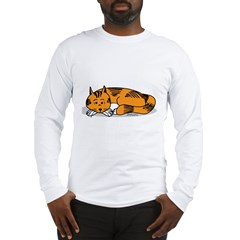 Cat Contemplation Long Sleeve T-Shirt