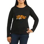 Cat Contemplation Women's Long Sleeve Dark T-Shirt