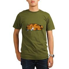 Cat Contemplation Organic Men's T-Shirt (dark)