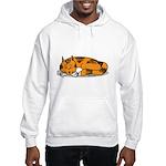 Cat Contemplation Hooded Sweatshirt