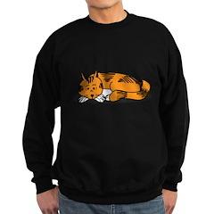 Cat Contemplation Sweatshirt (dark)