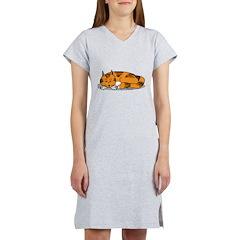 Cat Contemplation Women's Nightshirt