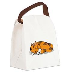 Cat Contemplation Canvas Lunch Bag