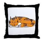 Cat Contemplation Throw Pillow