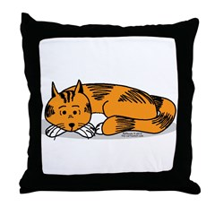 Cat Contemplation Throw Pillow
