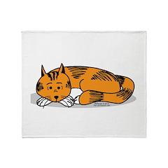 Cat Contemplation Throw Blanket