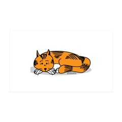 Cat Contemplation Wall Decal