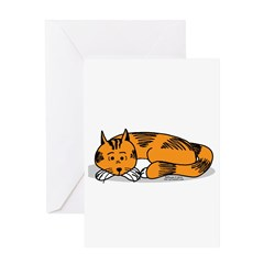 Cat Contemplation Greeting Card