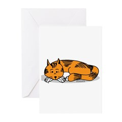 Cat Contemplation Greeting Cards (Pk of 20)