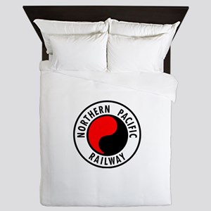 Northern Pacific Railway logo Queen Duvet