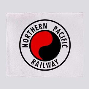 Northern Pacific Railway logo Throw Blanket