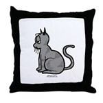 Cat Bored Throw Pillow