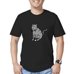 Cat Mad Men's Fitted T-Shirt (dark)