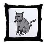 Cat Mad Throw Pillow