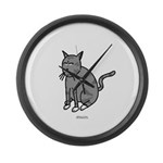Cat Mad Large Wall Clock