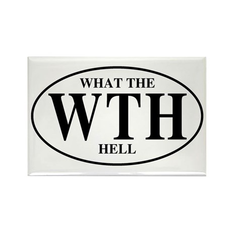 What the Hell Rectangle Magnet (100 pack)
