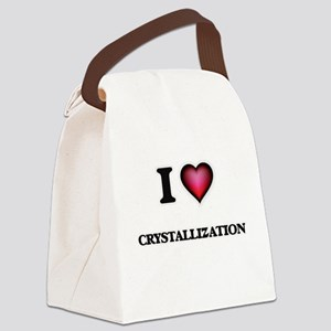 I love Crystallization Canvas Lunch Bag