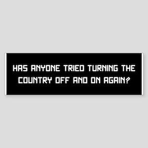 Reboot (bumper) Bumper Sticker