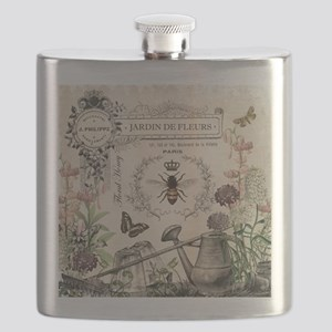 Modern Vintage French Bee Garden Flask