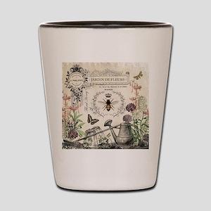 Modern Vintage French Bee Garden Shot Glass