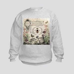 Modern Vintage French Bee Garden Sweatshirt